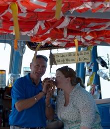 Kathryn Basham kissing lobster