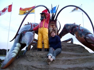 Kathryn Basham with Giant Lobster