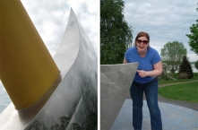 Kathryn Basham with Giant Axe